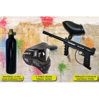 TIPPMANN CUSTOM 98 PAINTBALL TÜFEK SETİ